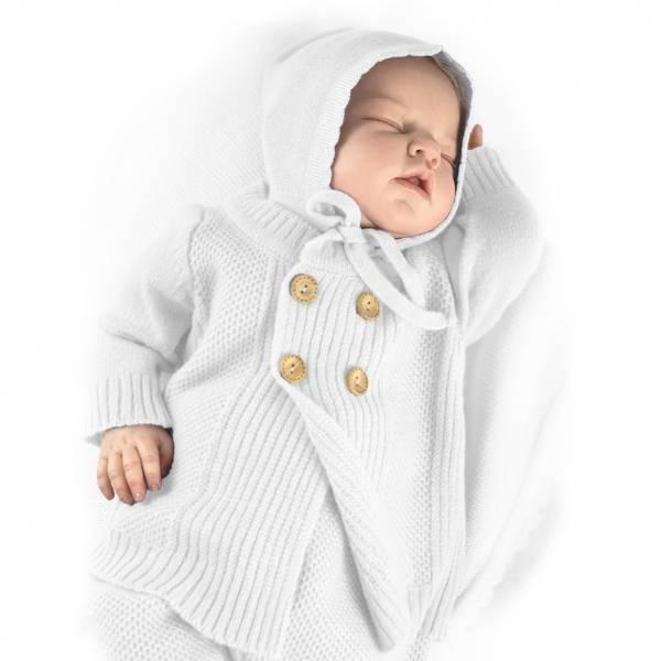 Kashmir babyjakke hvit