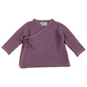 Bilde av Newborn omslagsjakke i ull støvlilla