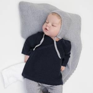 Bilde av Newborn omslagsjakke i ull marineblå