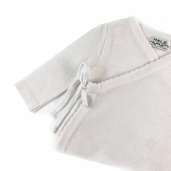 Kashmir Newborn omslagsjakke hvit