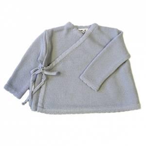 Bilde av Newborn omslagsjakke i ull lyseblå