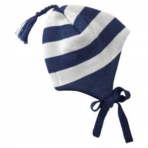 Bilde av Stripe ull lue midnattsblå